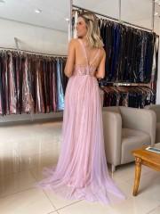 50% OFF!!! Vestido Longo Rosa