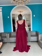 Vestido Longo Marsala Plus Size
