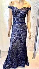 Usado - Vestido Longo Azul Marinho