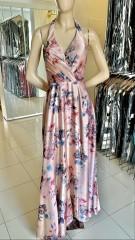 Vestido Longo Rosa Floral